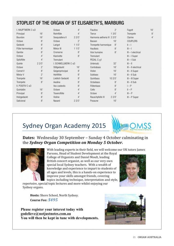 ORGAN AUSTRALIA AUTUMN 2015_page_23