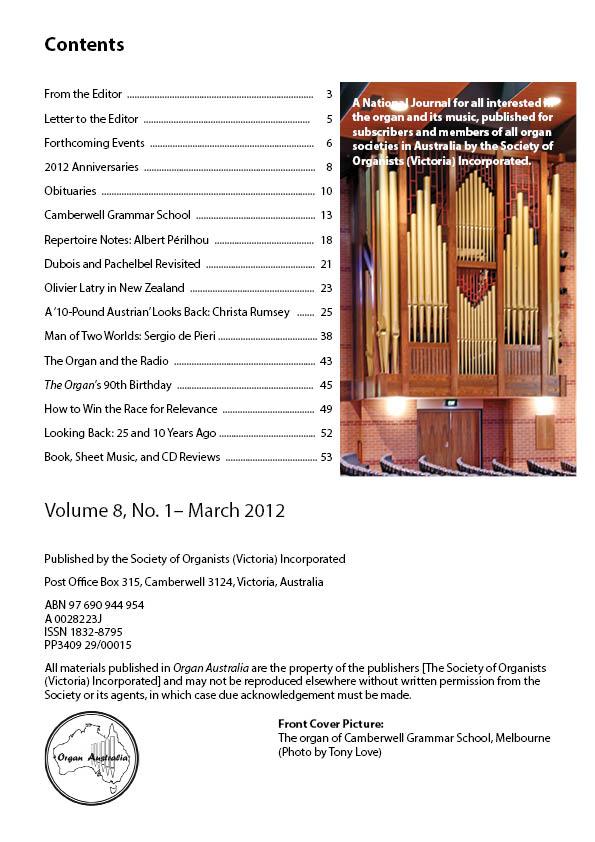 Organ_Australia_2012March